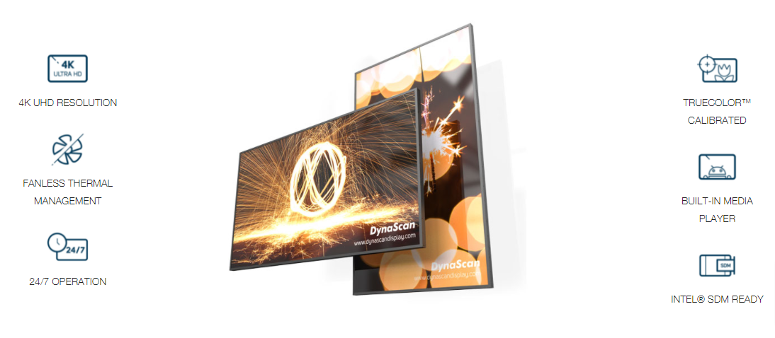 DynaScan DI100ST2-M 100 Zoll Indoor Display