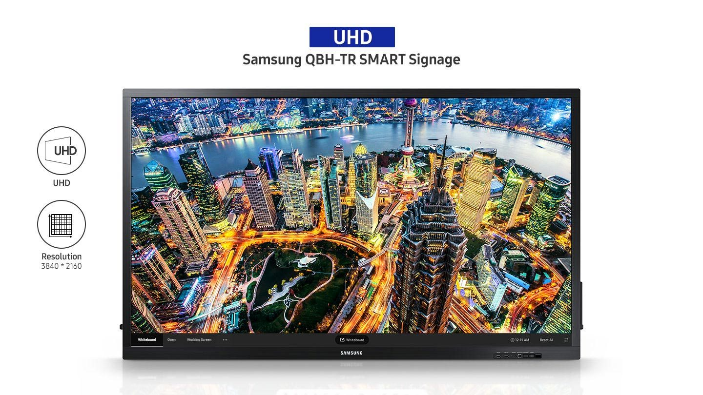 Das Samsung QB75N-W Whiteboard ist ein echtes Allround Display für Business und Institutionen