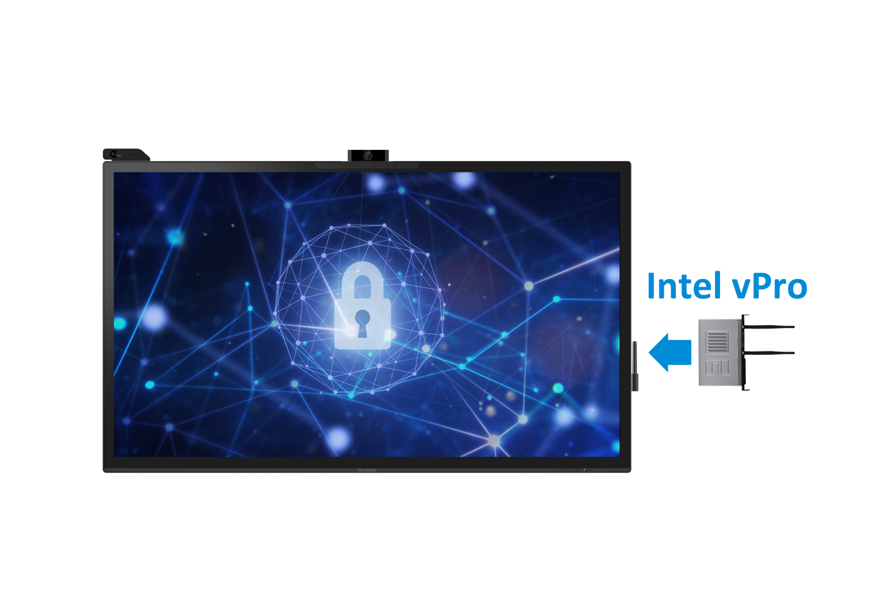 ViewSonic IFP8670 mit OPS-Slot-In-PC Intel vPro
