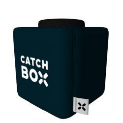 Catchbox Plus Wurfmikrofon - Customized - Wunschfarbe mit Catchbox Logos - 2 Mikrofone - 2 Ladestationen
