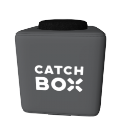 Catchbox Plus Wurfmikrofon - Dunkelgrau - 2 Mikrofone - ohne Ladestation