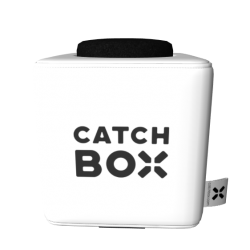 Catchbox Plus Wurfmikrofon - Weiss - 2 Mikrofone - 2 Ladestationen