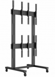 Hagor M Video Wall Trolley 2x2 - rollbare Videowall-Halterung - Portrait-Format