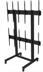 Hagor M Video Wall Trolley 3x2 - rollbare Videowall-Halterung - Portrait-Format