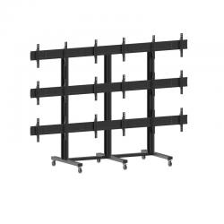 Hagor M Video Wall Trolley 3x3 - rollbare Videowall-Halterung