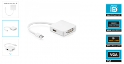 Purelink IS40 - MiniDisplayport auf DVI+HDMI+DP Adapter - Premium