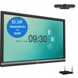 ViewSonic IFP6550-2EP Videokonferenz-Bundle - 65 Zoll Touch Display - Logitech MeeetUp Kamera - ViewSonic Slot-in PC i5 - 8GB RAM - 128GB SSD - Win 10 Pro 64bit