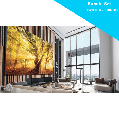 Samsung The Wall for Business IW016A - LED Bundle Komplettpaket Full-HD - 1920x1080 Pixel - 146 Zoll - 1.68mm PP - inkl. Halterung und Montagewerkzeug