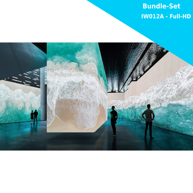 Samsung The Wall for Business IW012A - LED Bundle Komplettpaket Full-HD - 1920x1080 Pixel - 110 Zoll - 1.26mm PP - inkl. Halterung und Montagewerkzeug