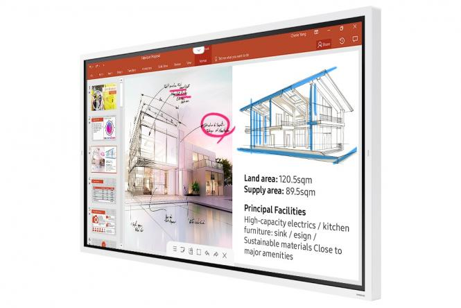 Samsung Flip WM65R - 65 Zoll digitales Flipchart für smarte Meetings